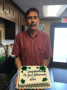 Jim with his cake